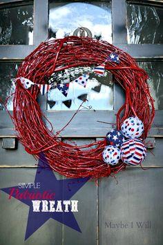 Maybe I Will...: Patriotic Wreath