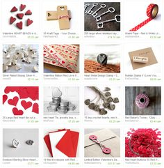 Valentines day treasury - all craft supplies you could use to make a diy valentines day gift