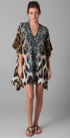 Camilla Sphinx Short Lace Up Caftan - StyleSays