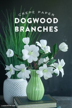 DIY Crepe Paper Dogwood Branch | Lia Griffith
