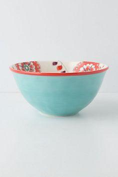 cadiz serv, kitchenwar, serv dish, serving bowl, anthropologie, ceram, serv bowl, bowl anthropologi, bowls