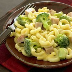 Mac and Cheese with Broccoli and Ham