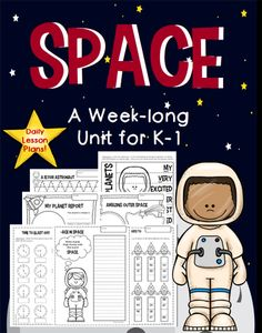 A Week-Long Solar System Unit for Kindergarten and First Grade.  Detailed daily lesson plans include science, writing, art, math, and phonics.  Also includes literature suggestions and links to YouTube videos that tie in perfectly with this unit. See the link to a FREEBIE from this unit in the product description!