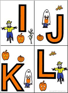 Halloween Letters - repinned by #PediaStaff.  Visit http://ht.ly/63sNt for all our pediatric therapy pins