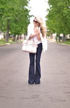 Jeans & a White T Outfit No. 26 ~ Rose Gold