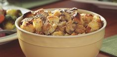 Savory Roasted Parsnip Bread Pudding.  Cancer fighting recipe via breastcancer.org
