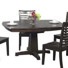Potential for new kitchen table. Santa Fe Single Pedestal Dining Table by Winners Only - Sheely's Furniture & Appliance - Dining Room Table Ohio, Youngstown, Cleveland, Pittsburgh, Pennsylvania
