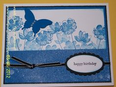 StampingHare.blogspot.com made with Stamping Up's retired Botanical Blooms stamp set #papercraft #birthday #DIY