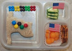 lunch idea, letter, food, winter olympics, olymp flag