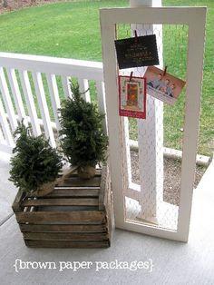 CUTE Christmas card holder!