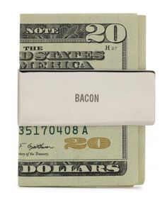Bacon Money Clip by Jack Spade: Stainless steel. #Money_Clip #Jack_Spade #Bacon