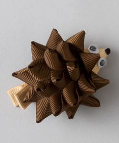 Look at this Brown Hedgehog Clip on #zulily today!