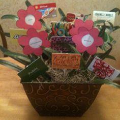Gift card tree....Great teacher gift!!!