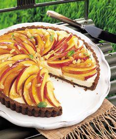 nectarin tart, gingersnap crust, mascarpon tart, crust recip