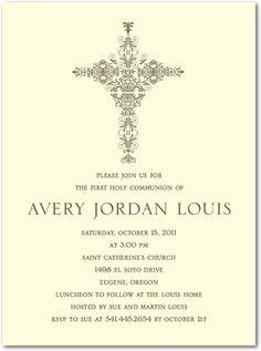 first communion invitation idea