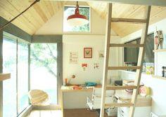 Backyard Workspace Tiny House with a Loft love the windows