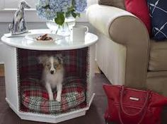 Dog bed - repurposed end table