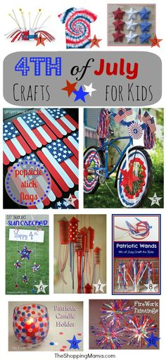 4th of July crafts for kids from theshoppingmama.com