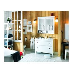 all 3 pieces, HEMNES/ODENSVIK Sink cabinet with 2 drawers IKEA You can easily customize the size of the drawer by moving the divider.