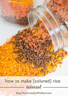 DIY Fall Rice for Fall Sensory Play!
