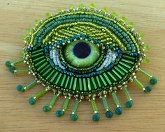 green fringe eye by Sue Goode