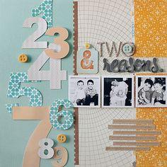 love the numbers galleries, studio calico, scrapbook layouts, studios, kelli noel, color, numbers, paper, scrapbook pages
