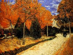 "Van Gogh  ""Public Garden""  Oil on canvas. I love the colors and movement created by the brush strokes."