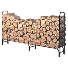 "Keep firewood neatly stacked and off the ground with this steel log rack.   Product: Log rackConstruction Material: SteelColor: BlackDimensions: 49"" H x 95.5"" W x 13.5"" DNote: Logs not includedEasy assembly required"