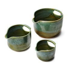 Nesting Stoneware Mixing Bowls, $140, by Maggy Ames