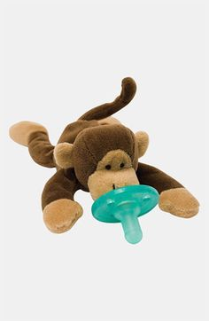 wubbanub pacifier - one of my must-have newborn essentials. read all the rest here: http://www.ohlovelyday.com/2013/08/newborn-baby-essentials.html #baby #newborn #essentials
