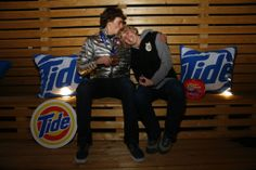 US bronze medalist Nick Goepper celebrates his victory with his mom Linda courtesy of Tide a the #PGFamily home. Getty images 2014.