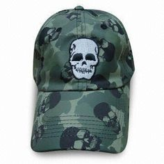 Baseball Cap, Made of 100% Cotton or Polyester, Various Colors are Available