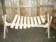 outdoor xylophone that actually works...this one located at a preschool in Portland, OR
