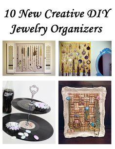 10 New Creative DIY Jewelry Organizers