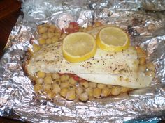 """Mediterranean Halibut - Another recipe from """"Eating for Life"""" cookbook."""