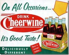 "Cheerwine is a cherry-flavored soft drink produced by the Carolina Beverage Corporation of Salisbury, North Carolina. It has been produced since 1917 by ""the oldest continuing soft drink company still run by the same family""."