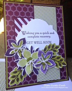 Claire Creates Cards: Get Well Soon --PP211