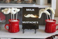 Milk mustaches - too cute.