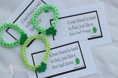 Rainbow Loom Lucky Charm Bracelet and Free Printable