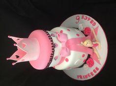 Princess gymnastics cake, fondant gymnast, by Amy Hart