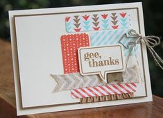 Stampin' Up! Card by Heather S: Just Sayin'
