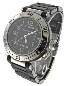 Cartier 2790 Pasha Seatimer W31077U2 Stainless Steel Rubber Watch