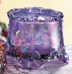Fenton Art Glass Violet Treasure Box
