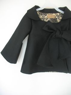 little girls coat with bow