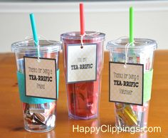 Thanks for Being TEA-rrific Gift Idea – Free Printable | HappyClippings.com
