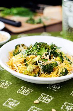 Roasted Broccoli with Quinoa Angel Hair