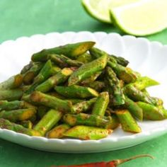 Chile-Spiced Asparagus Recipe