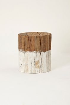 Dip-dyed wooden side table