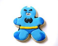 Batman Superhero Sugar Cookies by guiltyconfections on Etsy, $21.00