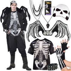 Be a creature of the night. Easy T-shirt, skullcap + extras = wicked-awesome costume. BOOyah! #BeACharacter